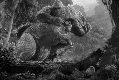 king kong grappling t-rex