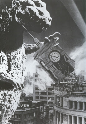 godzilla clock tower