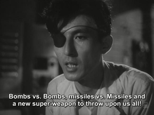 """dr. serizawa """"bombs vs. bombs"""""""
