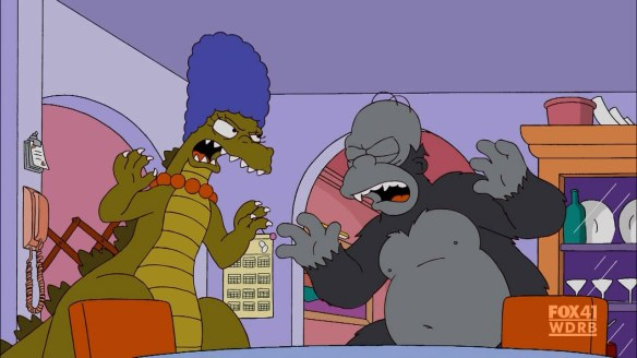 homer marge king kong godzilla simpsons