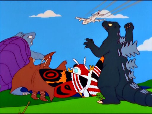 godzilla mothra rodan gamera simpsons
