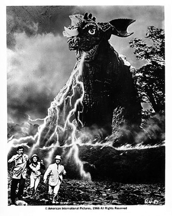 Also there's this if you weren't sure. Fun fact: Baragon cannot and does not breathe electricity, but there are multiple promo images like this that depict it.