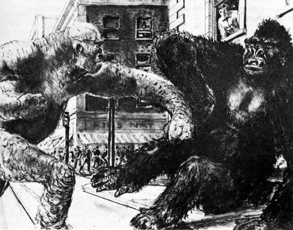 King Kong vs. Frankenstein concept art. I'm still butthurt that this movie doesn't exist.