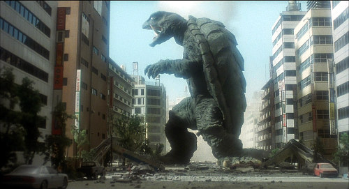 Gamera shown here not slouching in 199