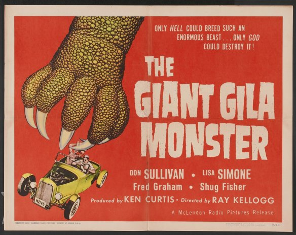 The Giant Gila Monster upped the ante 3 years later, swqpping out the mine train for a hot rod packed with dynamite. It's even funnier than it sounds.