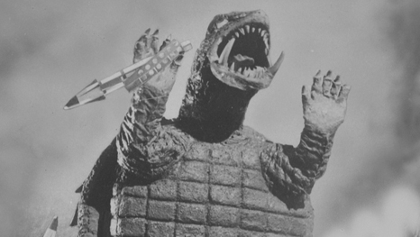 Back in the day, Gamera looked like a screaming eggo waffle.