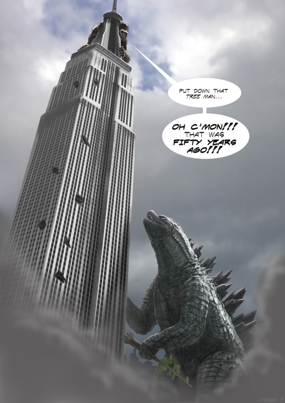 Godzilla's not known for being a gracious loser.