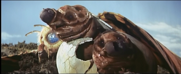 Unluckily, Mothra babbies look like big wet turds.