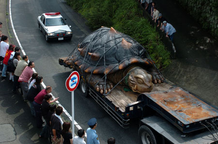 The best part is when this shot started showing up in clickbait ads claiming that this was a real giant turtle found in South America.