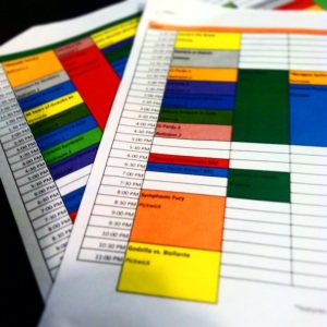 That's right, I made color-coded nerd spreadsheets so I wouldn't miss any nerd panels at my nerd convention. Jealous?