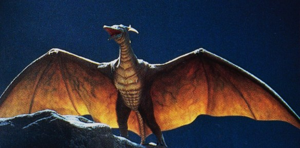 In this movie Rodan is basically a pissed-off prehistoric Tinkerbell.