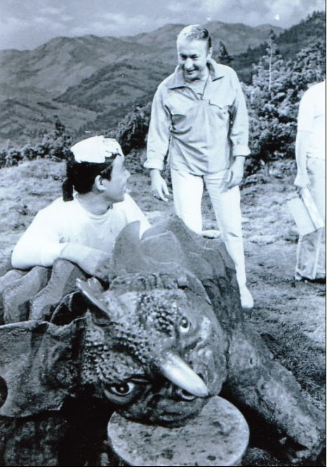 Shown here goofing around with Baragon suit actor Haruo Nakajima, because Nick is fucking cool.