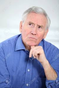 8973906-Portrait-of-smiling-old-man-with-thoughtful-look-Stock-Photo