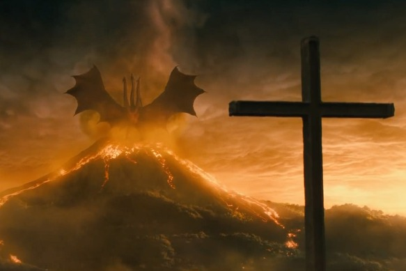 Godzilla-King-Of-The-Monsters-King-Ghidorah-The-Exorcist-Pazuzu-Reference